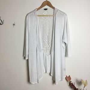Torrid Lace Cardigan White